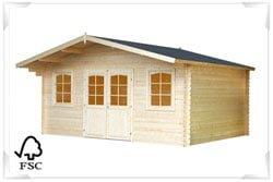 FSC Certified log cabin