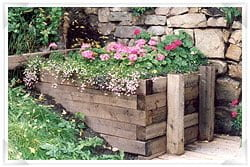 Flower bed preserved with eco-friendly timber treatment