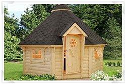 Scandinavian style barbecue hut