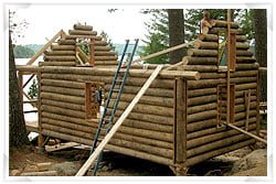 Traditional log cabin construction