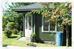 Summer house with concrete foundations