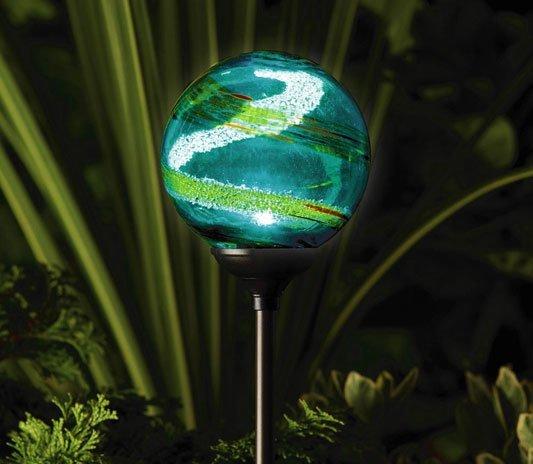 Unique ornamental coloured garden light