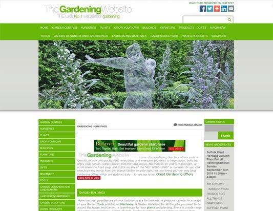 The Gardening Website