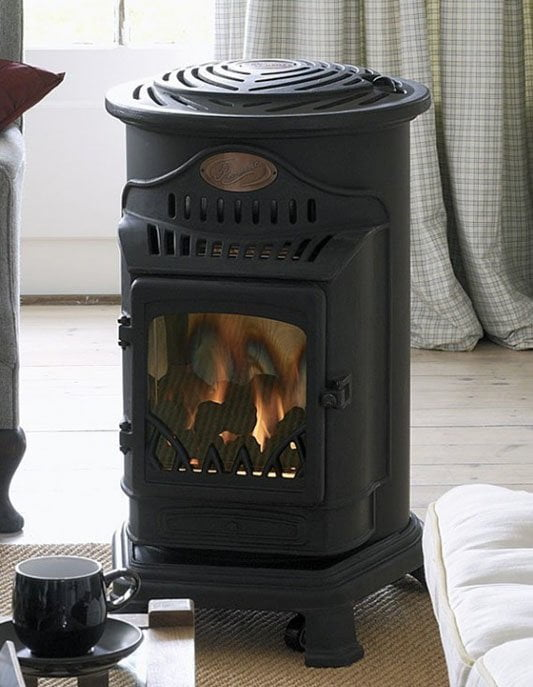 Heat a garden room with a gas stove