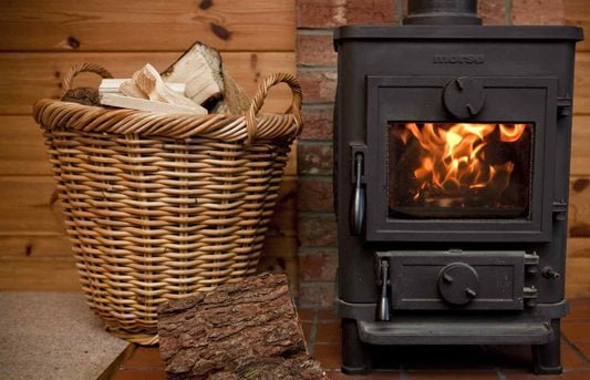 Heat a garden room with a wood burning stove
