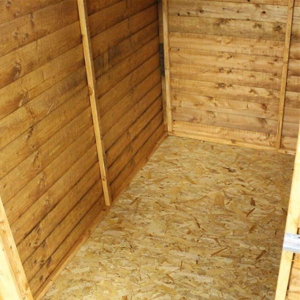Traditional overlap garden shed with OSB floor and roof