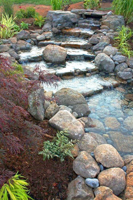 Add a water feature to your sloping garden design