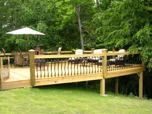 Decking in a sloping garden design?