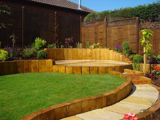 Terracing a sloping garden