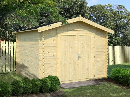 A timber garden garage, shed or room