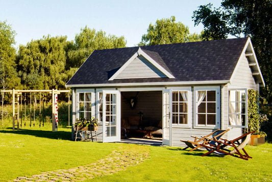 Claudia timber garden pavilion with that hygge style