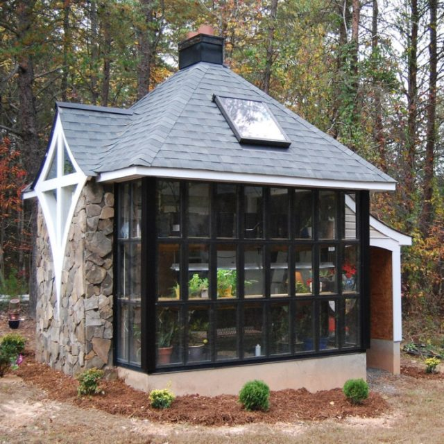 Jeff's greenhouse cabin