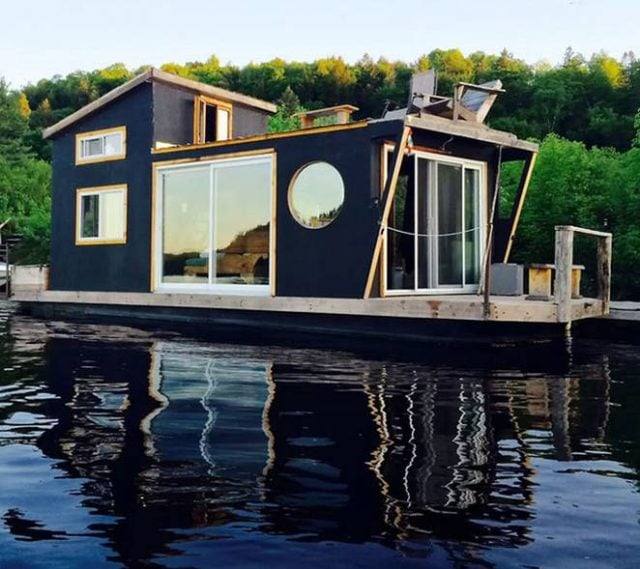 Unusual timber buildings - the house boat/shed