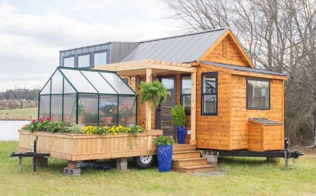 Unusual timber greenhouse/home/trailer