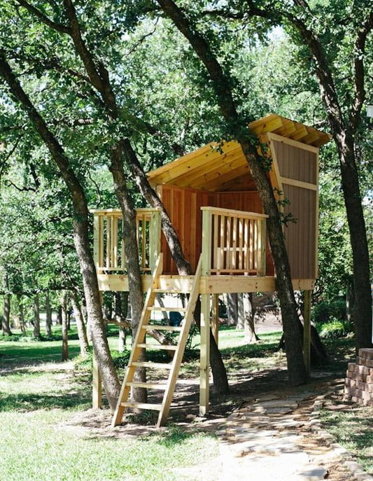 If you decide to build a treehouse, do it properly