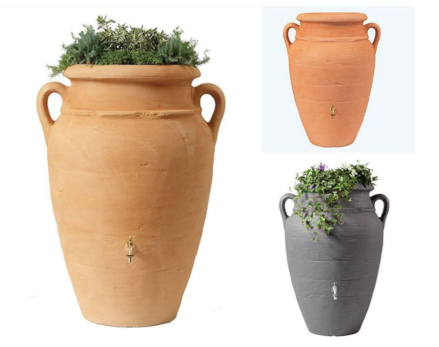Antique amphora garden water butts