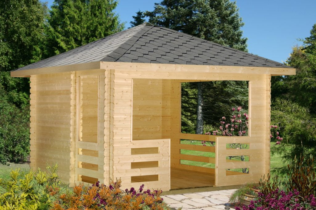 Wind proof timber gazebo
