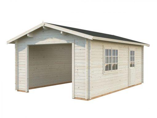 Roger (19 sqm) traditional log cabin single garage