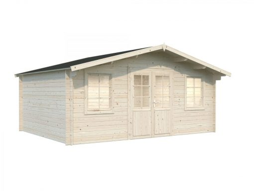 Klara (17.0 sqm) large low cost garden log cabin