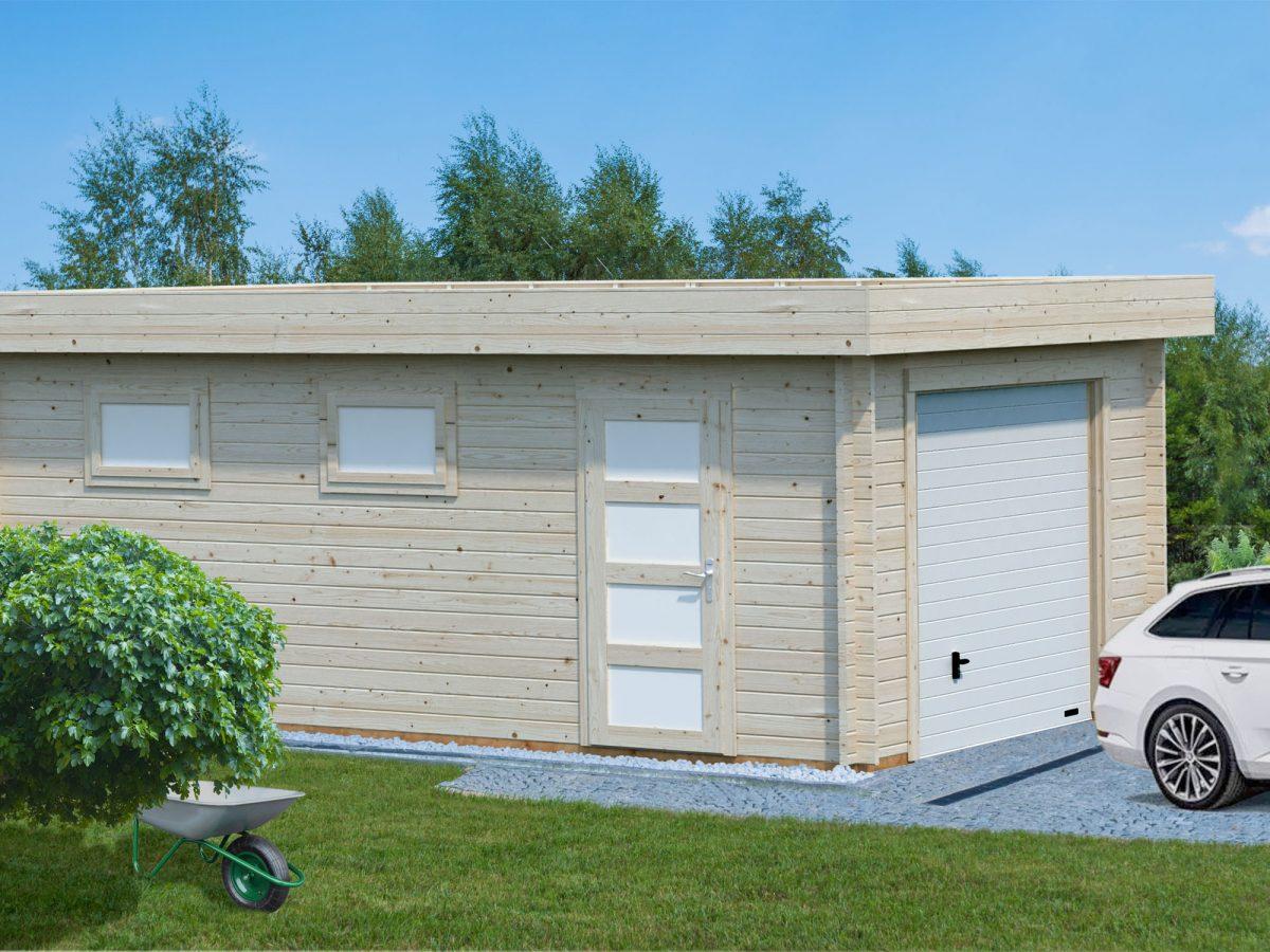 Rasmus 19 0 Sqm Modern Flat Roof Timber Single Garage
