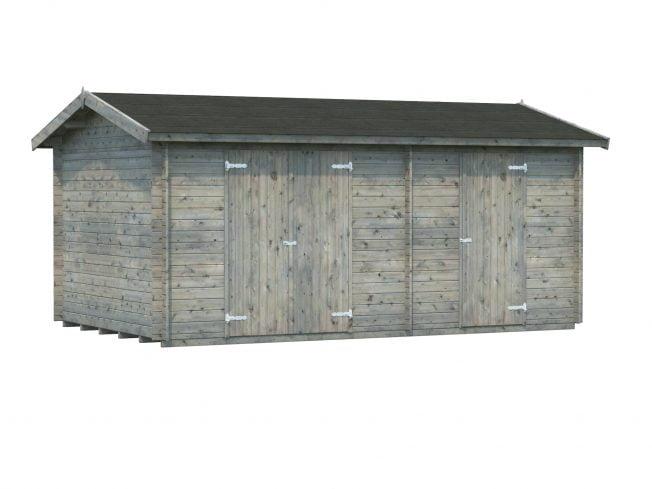 Jari (14.5 sqm) large two room timber shed