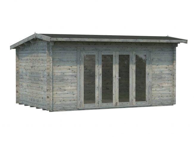 Ines (13.7 sqm) timber sunroom with bi-fold doors