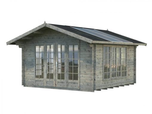 Irene (13.9 sqm) summer house with translucent roof panels