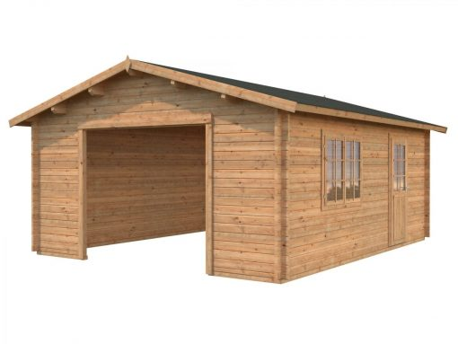 Roger (23.9 sqm) large traditional timber single garage
