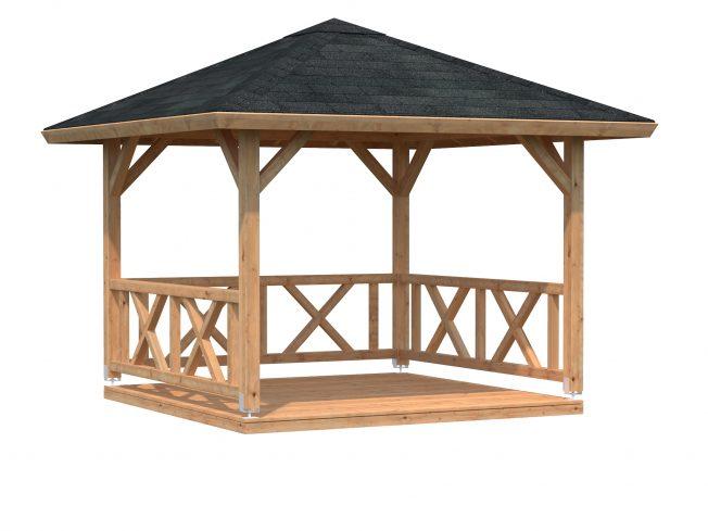 Betty (9.0 sqm) square wooden gazebo