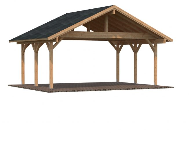 Robert (20.6 sqm) traditional timber carport (two cars)
