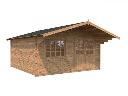 Britta (17.5 sqm) roomy timber garden chalet
