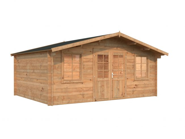 Klara (17.0 sqm) large low cost garden log cabin