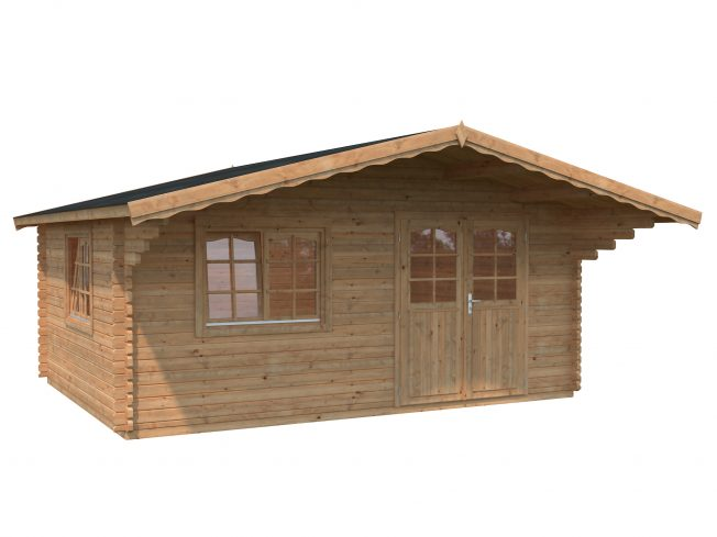 Sally (19.1 sqm) large Scandinavian style log cabin