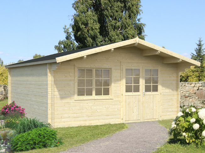 Britta (19.7 sqm) large garden log cabin