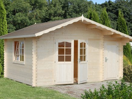 Emma (14.2 sqm) Alpine garden cabin with side storage