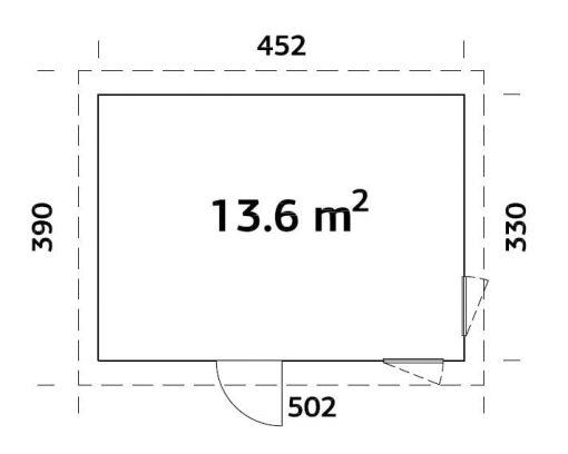 Etta (13.6 sqm) modern pent garden office