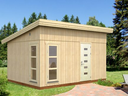 Etta (13.6 sqm) modern pent garden office