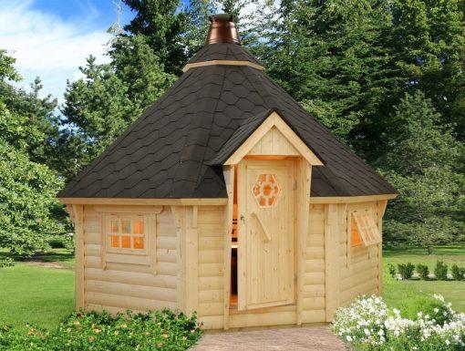 Eva (11.4 sqm) large Nordic barbecue hut