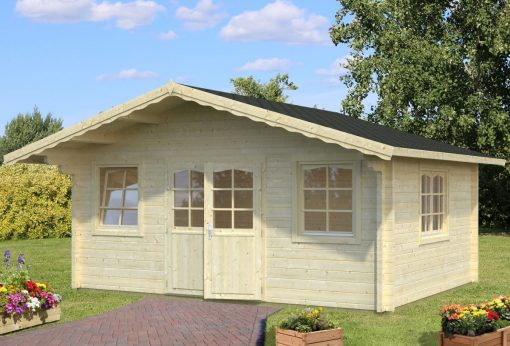 Helena (18.6 sqm) large heavy duty log cabin