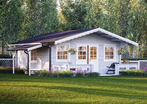 Helena (24.6 sqm) large heavy duty log cabin