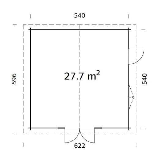 Irene (27.7 sqm) extra large summer house
