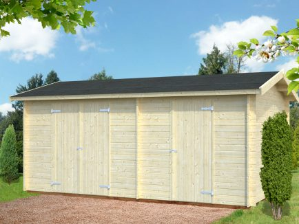 Jari (14.5 sqm) large two room timber shed