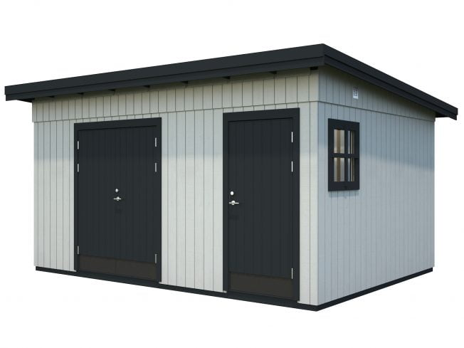 Kalle (13.5 sqm) large two room pent shed