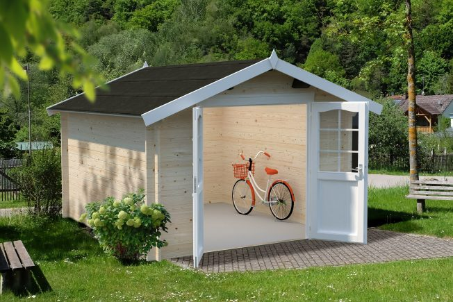 Lotta (10.0 sqm) spacious garden storage cabin