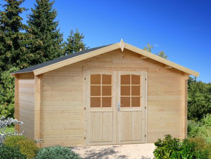 Lotta (13.9 sqm) traditional garden log cabin