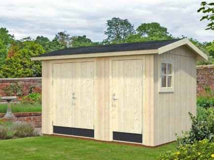 Olaf (6.6 sqm) contemporary timber garden shed