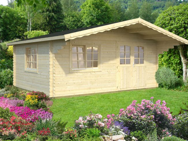 Sally (19.1 sqm) large Scandinavian style log cabin