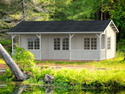 Sandra (25.6 sqm + 11.1 sqm) log cabin summer house