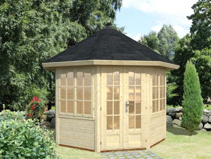 Veronica (6.7 sqm) octagonal summer house | Two windows