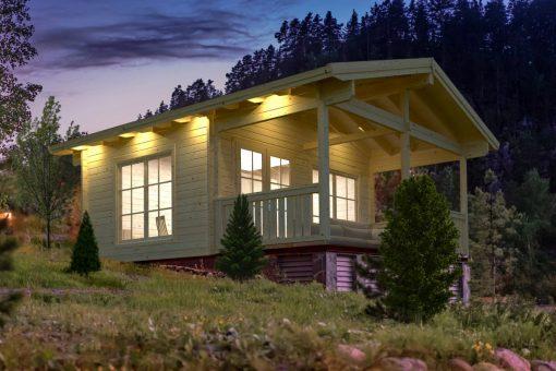 Agneta (18.8 sqm + 12.5 sqm) summer house with veranda